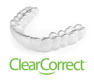 clear correct invisible aligners with the logo